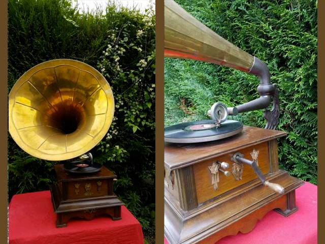 Important phonographe Allemand vers 1905 (0)
